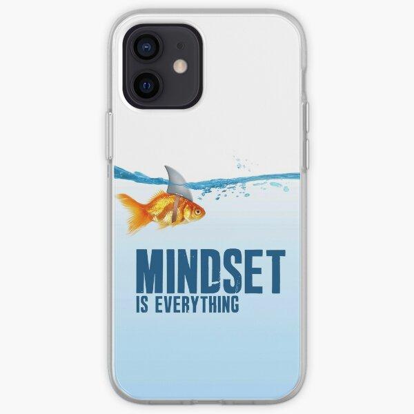 Mindset is everything - Goldfish - Shark  iPhone Flexible Hülle