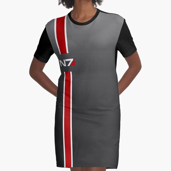 N7 iconic Masseffect HD  Graphic T-Shirt Dress