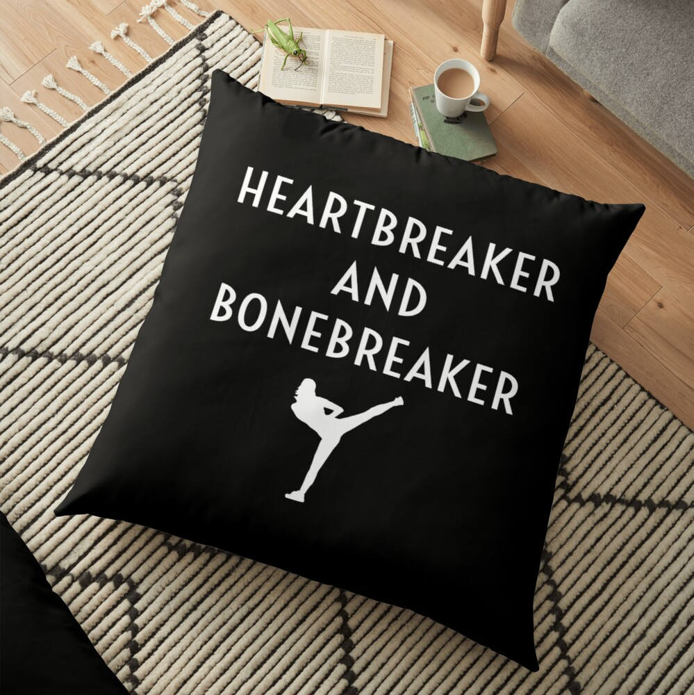 Heartbreaker And Bonebreaker Funny Female Karate Student Girl Women's Gift Bodenkissen