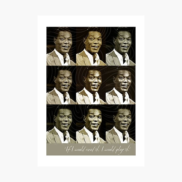 Jazz Heroes Series - Nat King Cole Photographic Print