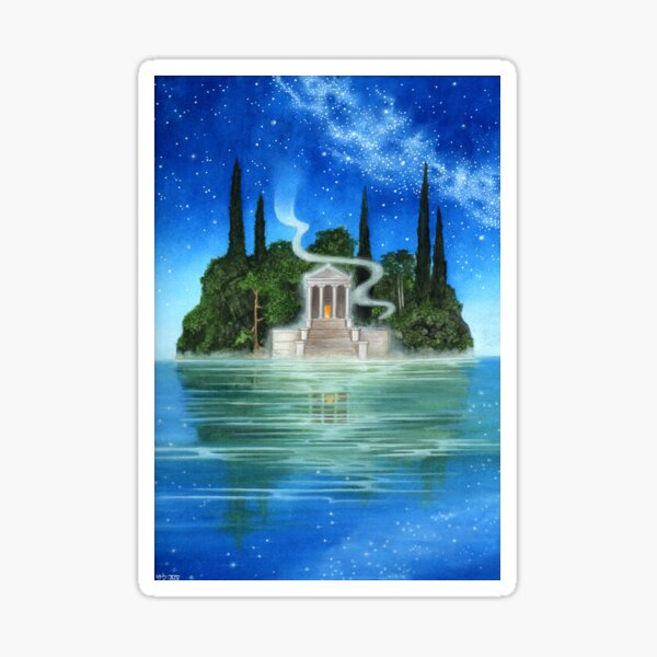Der magische Tempel von Stuart Littlejohn Sticker
