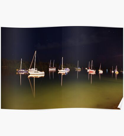 Moored under stary skies Poster
