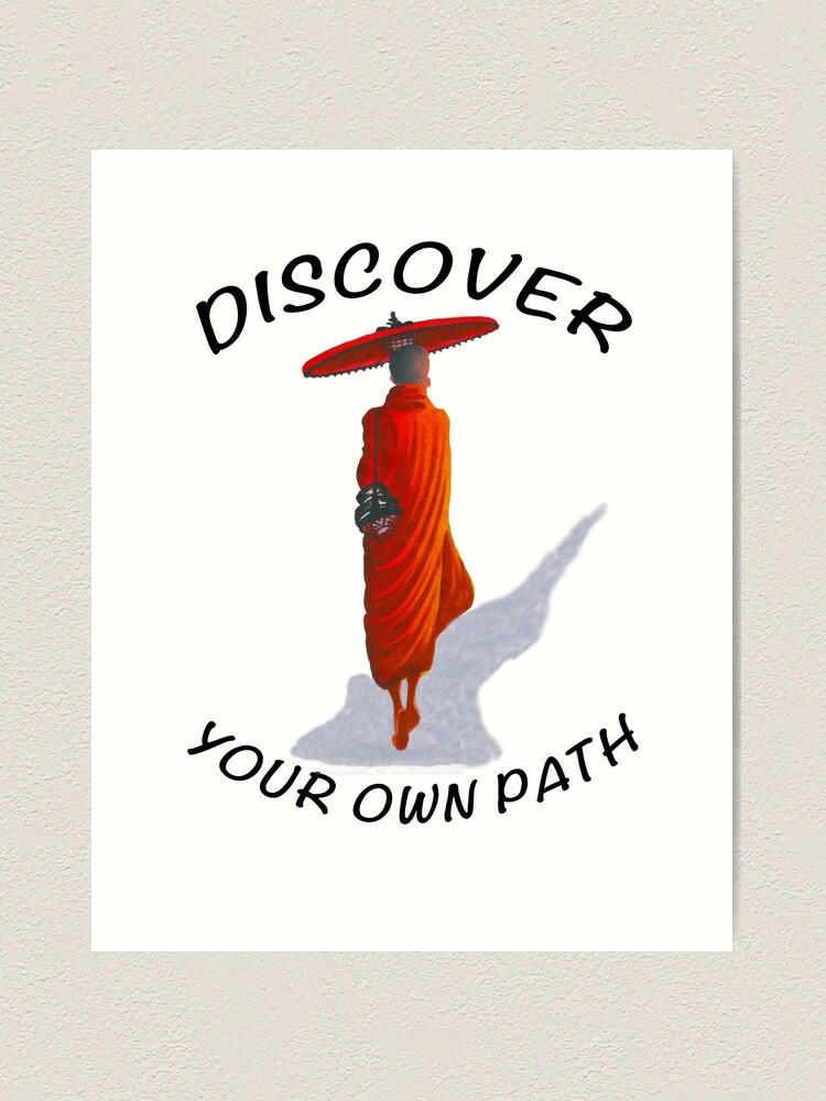 Alternate view of DISCOVER YOUR OWN PATH Art Print