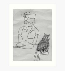 drawing day 2010 ... dinner companion Art Print