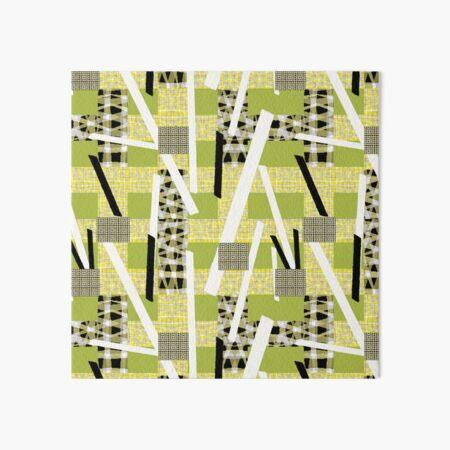 Bauhaus Patchwork green Art Board Print