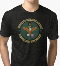 US Army Disabled Veteran Shield Tri-blend T-Shirt