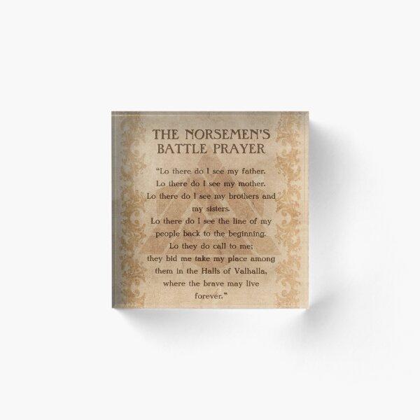 The Norsemen's Battle Prayer Acrylic Block