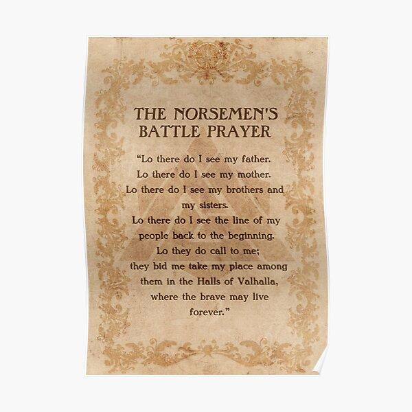 La prière de bataille du nordique Poster