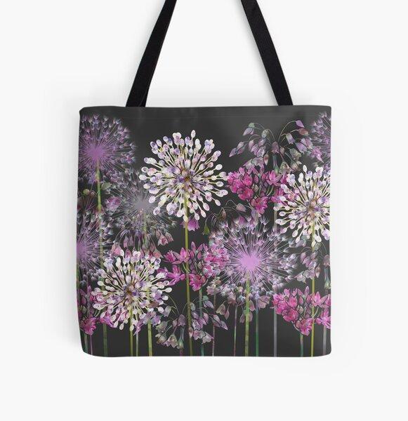 Allium Meadow All Over Print Tote Bag