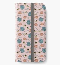 Cream Tea pattern iPhone Wallet/Case/Skin