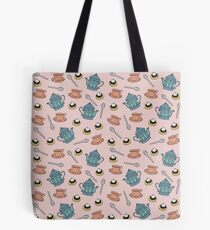 Cream Tea pattern Tote Bag