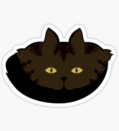 Mocha Brown Tabby Cat Cattern [Cat Pattern] Sticker