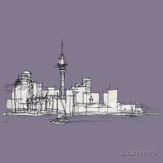 TShirtGifter presents: Auckland Silhouette
