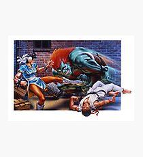 Classic Retro Street Fighter II SNES Photographic Print