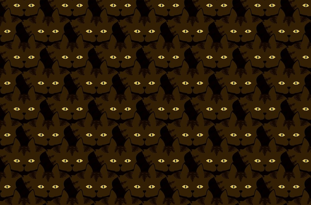 Mocha Brown Tabby Cat Cattern [Cat Pattern] by Brent Pruitt