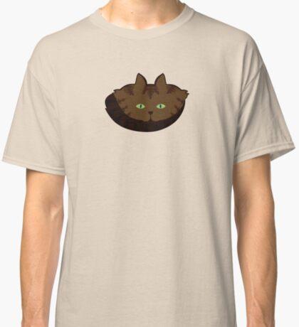 Coffee Brown Tabby Cat Cattern [Cat Pattern] Classic T-Shirt