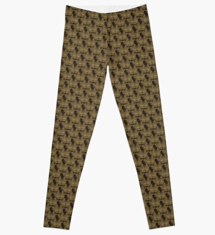 Cocoa Brown Tabby Cat Cattern [Cat Pattern] Leggings
