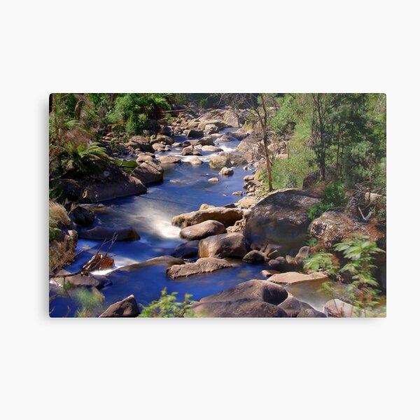 Fainter Falls Downstream Metal Print