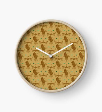 Latté Brown Tabby Cat Cattern [Cat Pattern] Clock