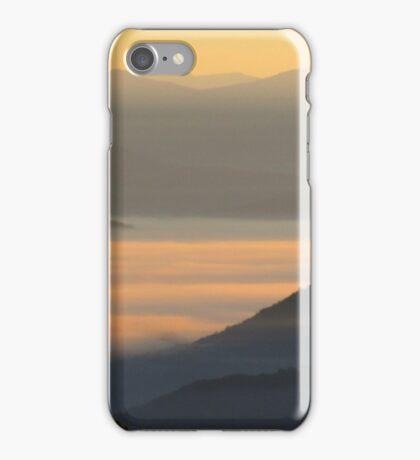 Dawning Sunbeams Fall Across Valley Fog iPhone Case/Skin