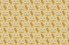 Frappé Brown Tabby Cat Cattern [Cat Pattern] by Brent Pruitt