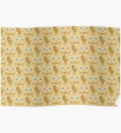 Frappé Brown Tabby Cat Cattern [Cat Pattern] Poster