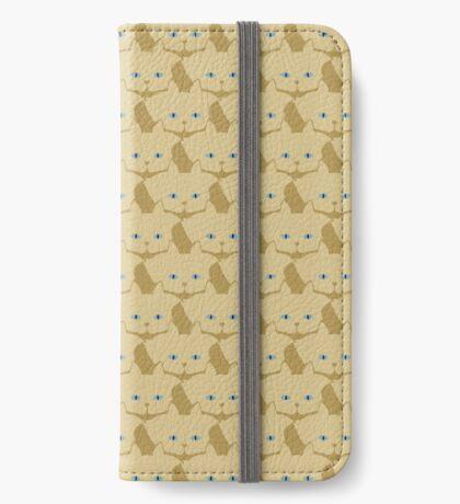 Frappé Brown Cat Cattern [Cat Pattern] iPhone Wallet