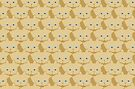 Frappé Brown Cat Cattern [Cat Pattern] by Brent Pruitt