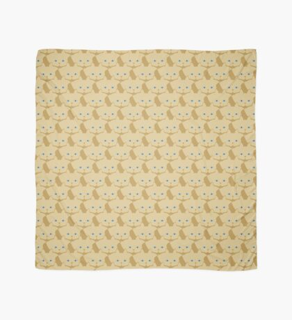 Frappé Brown Cat Cattern [Cat Pattern] Scarf