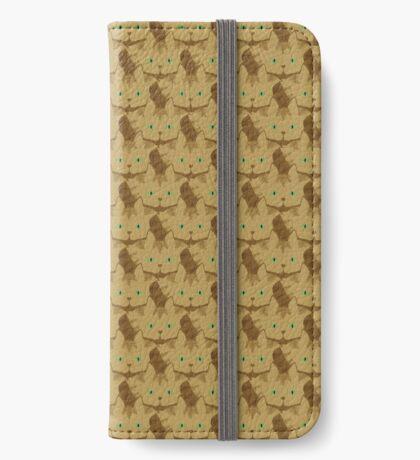Latté Brown Tabby Cat Cattern [Cat Pattern] iPhone Wallet