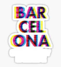 Barcelona Glitch Psychedelic Coolest City in Europe Sticker