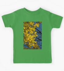 Sapphire and Gold - Blue Sky, Golden Leaves & Bright Sunlight Kids Clothes