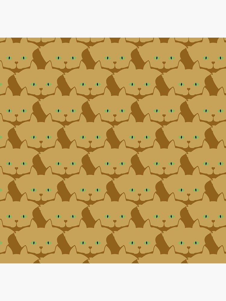 Latté Brown Cat Cattern [Cat Pattern] by brentpruitt