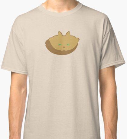 Latté Brown Cat Cattern [Cat Pattern] Classic T-Shirt
