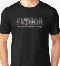 Lightning Fa-Thor Like Dad Only Stronger T Shirts Slim Fit T-Shirt