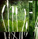 """Green Monotype 2 -Printmaking by Belinda """"BillyLee"""" NYE (Printmaker)"""
