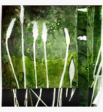 Green Monotype 2 -Printmaking Poster