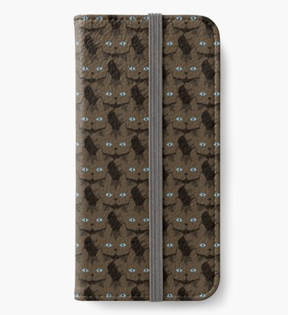 Chai Brown Tabby Cat Cattern [Cat Pattern] iPhone Wallet