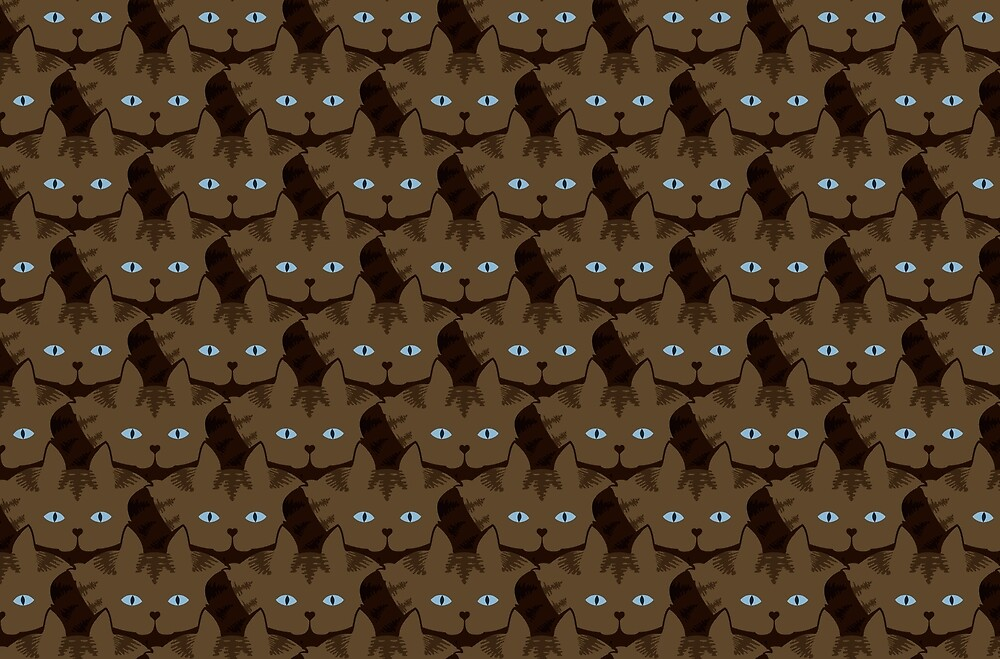 Chai Brown Tabby Cat Cattern [Cat Pattern] by Brent Pruitt