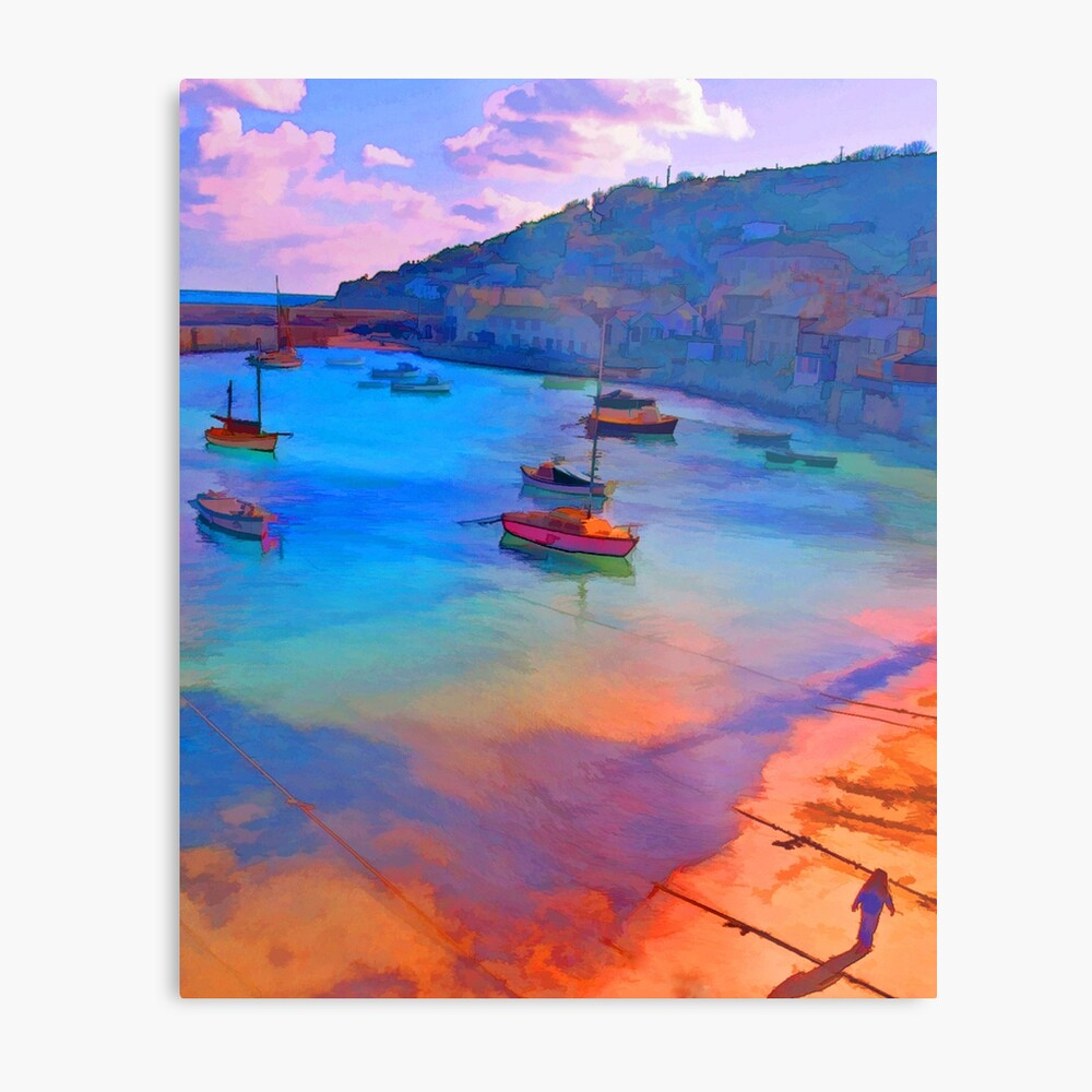Mousehole Harbor, Cornwall - UK Metal Print