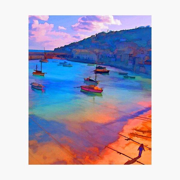 Mousehole Harbor, Cornwall - UK Photographic Print