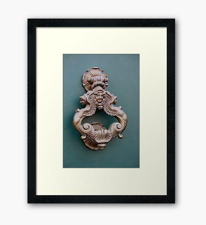 Door Knocker - 2 Framed Print