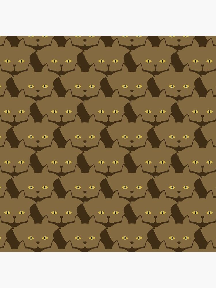 Cocoa Brown Cat Cattern [Cat Pattern] by brentpruitt
