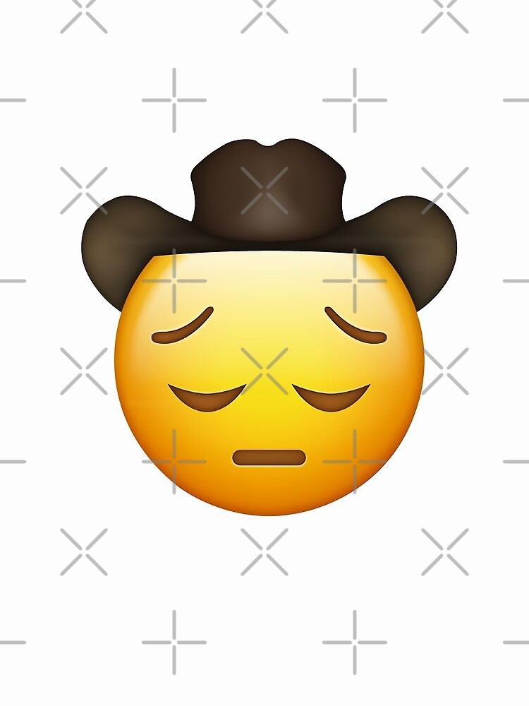 Trauriger Cowboy Emoji von xDeluxe
