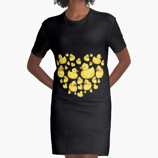 Rubber ducks heart sweet  Graphic T-Shirt Dress