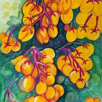 Watercolor: Budding Oregon Grape by joannaalmasude