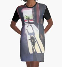 Dog in the Light Graphic T-Shirt Dress