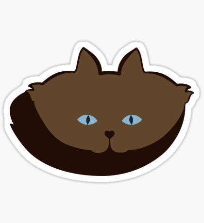 Chai Brown Cat Cattern [Cat Pattern] Sticker