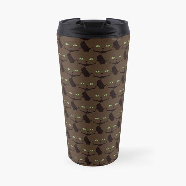 Coffee Brown Cat Cattern [Cat Pattern] Travel Mug