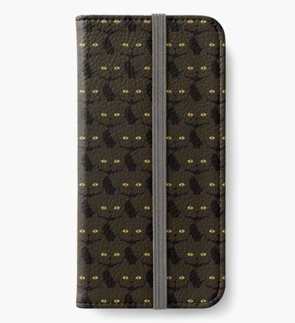 Mocha Brown Cat Cattern [Cat Pattern] iPhone Wallet